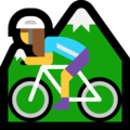 Woman Mountain Biking on Microsoft Windows 10 April 2018 Update