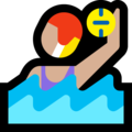 Woman Playing Water Polo: Medium-Light Skin Tone on Microsoft Windows 10 April 2018 Update