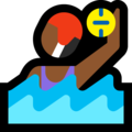 Woman Playing Water Polo: Medium-Dark Skin Tone on Microsoft Windows 10 April 2018 Update