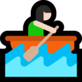 Woman Rowing Boat: Light Skin Tone on Microsoft Windows 10 April 2018 Update