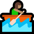 Woman Rowing Boat: Medium Skin Tone on Microsoft Windows 10 April 2018 Update