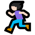 Woman Running: Light Skin Tone on Microsoft Windows 10 April 2018 Update
