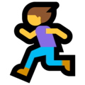 Woman Running on Microsoft Windows 10 April 2018 Update