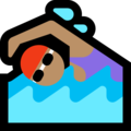 Woman Swimming: Medium Skin Tone on Microsoft Windows 10 April 2018 Update