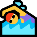 Woman Swimming on Microsoft Windows 10 April 2018 Update
