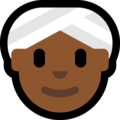 Woman Wearing Turban: Medium-Dark Skin Tone on Microsoft Windows 10 April 2018 Update