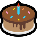 Birthday Cake on Microsoft Windows 10 Creators Update