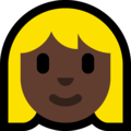 Blond-Haired Woman: Dark Skin Tone on Microsoft Windows 10 Creators Update