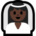 Bride With Veil: Dark Skin Tone on Microsoft Windows 10 Creators Update