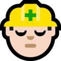 Construction Worker: Light Skin Tone on Microsoft Windows 10 Creators Update