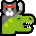 Dino Cat on Microsoft Windows 10 Creators Update