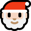 Santa Claus: Light Skin Tone on Microsoft Windows 10 Creators Update