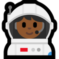 Woman Astronaut: Medium-Dark Skin Tone on Microsoft Windows 10 Creators Update