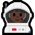 Woman Astronaut: Dark Skin Tone on Microsoft Windows 10 Creators Update