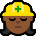 Woman Construction Worker: Medium-Dark Skin Tone on Microsoft Windows 10 Creators Update