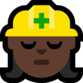 Woman Construction Worker: Dark Skin Tone on Microsoft Windows 10 Creators Update