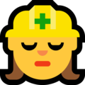 Woman Construction Worker on Microsoft Windows 10 Creators Update