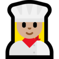 Woman Cook: Medium-Light Skin Tone on Microsoft Windows 10 Creators Update