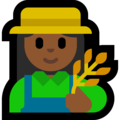 Woman Farmer: Medium-Dark Skin Tone on Microsoft Windows 10 Creators Update