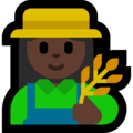 Woman Farmer: Dark Skin Tone on Microsoft Windows 10 Creators Update