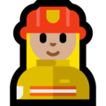 Woman Firefighter: Medium-Light Skin Tone on Microsoft Windows 10 Creators Update
