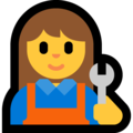 Woman Mechanic on Microsoft Windows 10 Creators Update