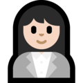 Woman Office Worker: Light Skin Tone on Microsoft Windows 10 Creators Update