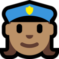 Woman Police Officer: Medium Skin Tone on Microsoft Windows 10 Creators Update