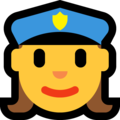 Woman Police Officer on Microsoft Windows 10 Creators Update