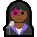 Woman Singer: Medium-Dark Skin Tone on Microsoft Windows 10 Creators Update