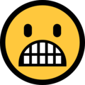 Grimacing Face on Microsoft Windows 10 Creators Update