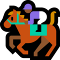 Horse Racing: Medium-Dark Skin Tone on Microsoft Windows 10 Creators Update