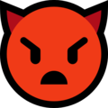 Angry Face With Horns on Microsoft Windows 10 Creators Update