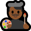 Man Artist: Medium-Dark Skin Tone on Microsoft Windows 10 Creators Update