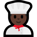 Man Cook: Dark Skin Tone on Microsoft Windows 10 Creators Update
