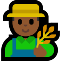 Man Farmer: Medium-Dark Skin Tone on Microsoft Windows 10 Creators Update