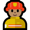 Man Firefighter: Medium Skin Tone on Microsoft Windows 10 Creators Update