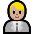 Man Office Worker: Medium-Light Skin Tone on Microsoft Windows 10 Creators Update