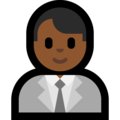 Man Office Worker: Medium-Dark Skin Tone on Microsoft Windows 10 Creators Update