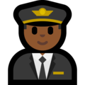 Man Pilot: Medium-Dark Skin Tone on Microsoft Windows 10 Creators Update