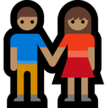 Man and Woman Holding Hands, Type-4 on Microsoft Windows 10 Creators Update
