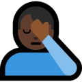 Man Facepalming: Dark Skin Tone on Microsoft Windows 10 Creators Update