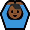 Man Gesturing OK: Medium-Dark Skin Tone on Microsoft Windows 10 Creators Update