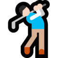 Man Golfing: Light Skin Tone on Microsoft Windows 10 Creators Update
