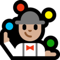 Man Juggling: Medium-Light Skin Tone on Microsoft Windows 10 Creators Update
