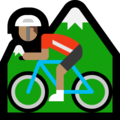 Man Mountain Biking: Medium Skin Tone on Microsoft Windows 10 Creators Update