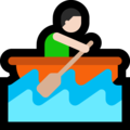 Man Rowing Boat: Light Skin Tone on Microsoft Windows 10 Creators Update