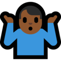 Man Shrugging: Medium-Dark Skin Tone on Microsoft Windows 10 Creators Update