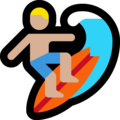 Man Surfing: Medium-Light Skin Tone on Microsoft Windows 10 Creators Update