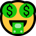 Money-Mouth Face on Microsoft Windows 10 Creators Update